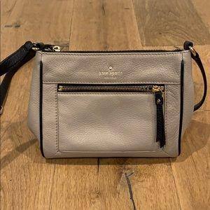 Cream and Black Kate Spade Cross body purse